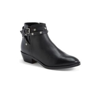 NEW Halogen Lidia Studded Leather Ankle Bootie